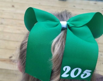 Girl Scout cheer bow with troop number
