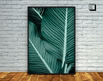 Tropical Leaf Print, Tropical Print, Tropical Decor, Leaf Print, Digital Art Print, Tropical Wall Art, Tropical Home Decor, Tropical leaf