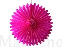 A rosette paper size 20 cm pink fuschia color