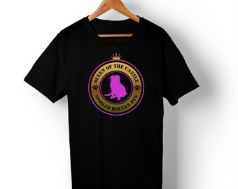 Queen of the House Spoiled Rotten Pug Gold  T Shirt.