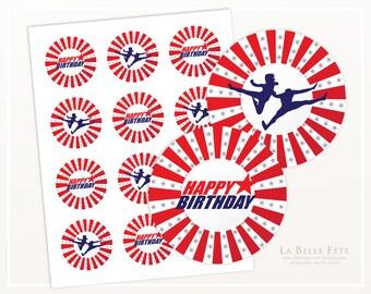 AMERICAN NINJA WARRIOR Birthday Party Stickers / Labels