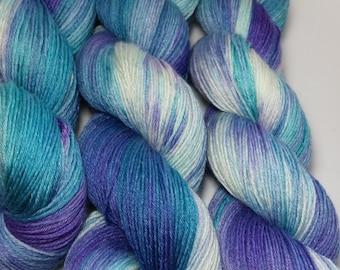 Hand-dyed Merino silk blend