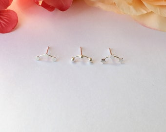 Cartilage Stud Earring. Sterling Silver Cartilage Earring.