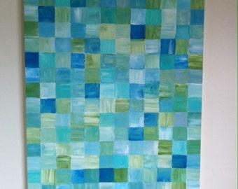Ocean tile painting