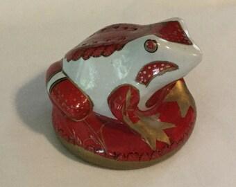 Vintage Figural Frog Pommander