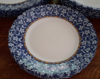 French Dinnerware in Blue And White by Luminarc