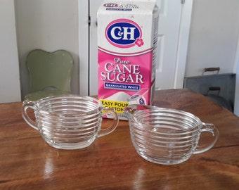 Anchor Hocking Manhattan Cream and Sugar Set