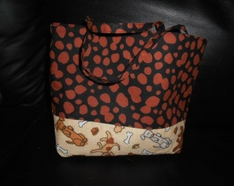 Cute Dog Bag Purse Carrying Bag Dogs Lined Animal Item
