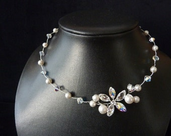 Bridal Necklace, Bridal Jewelry, Wedding Necklace, Wedding Jewelry, Bridal Accessories, Swarovski Crystals