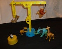 Vintage 1970s Fisher Price Little People Family Circus, trapeze, ring ladders