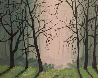 Original Acrylic Painting on canvas / Early Morning / 90USD