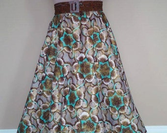Long circle skirt, ready to ship.