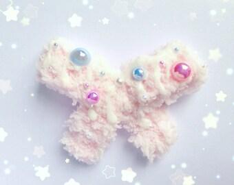Kawaii Fluffy Ice Cream Bow, Fairy Kei, Sweet Lolita, Pastel Kei, Decora Kei, Harajuku etc inspired