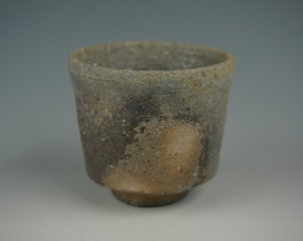 Guinomi - Small Cup - Anagama Wood Fired - Raw Ash Glaze - Hikidashi