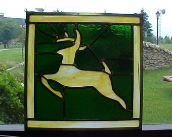 John Deere Leaded Stianed Glass