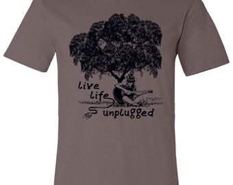 Live Life Unplugged - Guitar Shirt