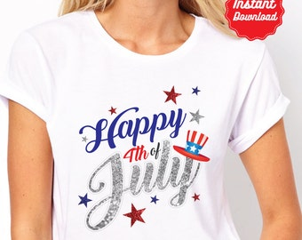 DIY Printable 4th of July Iron On Transfer, 4th of July shirt, instant download, 4th of July Party, fourth of July iron on, Fourth of July