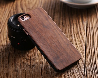 Wood Iphone 5 5S SE Cover, Wood Iphone 5 5S SE Case, Natural Wood Iphone Cover, Black Walnut, Rosewood, Bamboo, Cherry, Protective Case