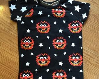 Animal Muppets Children's Cotton Tee 0/3mo - 7 Years HANDMADE