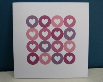 Map St - Valentine Pink Hearts