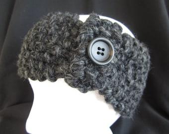Gray Knitted Ear Warmer