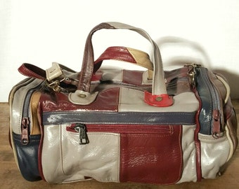 Vintage Deluxe Carry-All Tote Bag Genuine Leather. Made in Mexico.