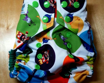 Swim Diaper - Reusable Cloth Swim Diaper - Emotions Green