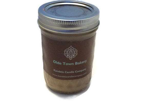 New! Olde Towne Bakery Scented Candle in 8 oz. Jelly Jar