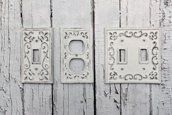 Cast iron switch plates double switch by southtexashomedecor - Wrought iron switch plate covers ...