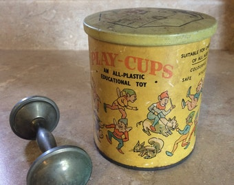 Antique Dr. Lever design stacking cups Dandy Toys