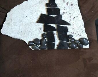 Garden stone Inukshuk