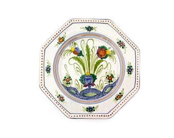 "Large 14"" Garofano, Deruta Majolica, Decorative Wall Plate"