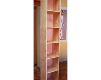 Six Cube Bookshelf Finished/Unfinished Modern Apartment Minimalist Storage Furniture