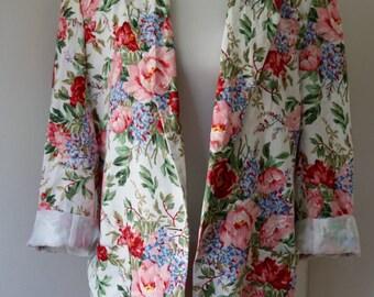 Vintage 1980s Floral Blazer / Vintage Jacket / JH Collectibles