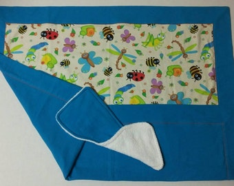 Baby Receiving Blanket And Burp Cloth