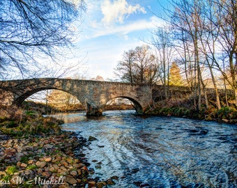 Digital Download,Bridge over the River Nairn,Scotland,Fine Art Photography