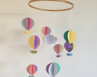 Beautiful hand made hot air balloon, baby mobile