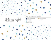 80% OFF SALE Digital Paper Blue 'Pack02' Gold Glitter & Blue Confetti Backgrounds for Scrapbook, Party Invitations, Crafts...