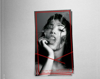 Red Line business card design + Printing (optional) + FREE SHIPPING