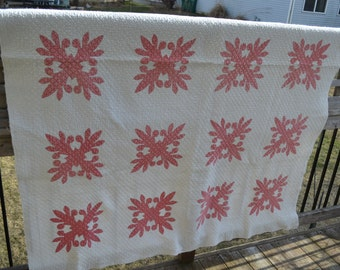 Vintage Cotton Applique Quilt