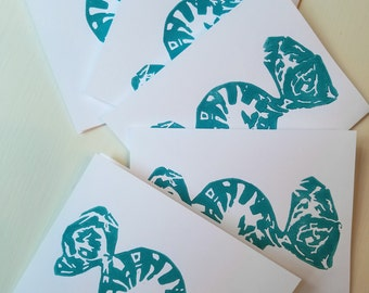 Candy Print Handmade 5-Card Pack (Turquoise)