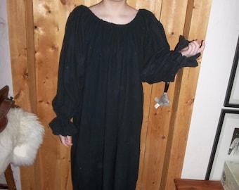 black flannel nightgown