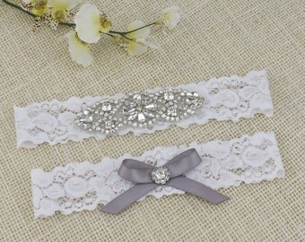 Bridal Garter Set Wedding Garter Bridal Garter Lace Garter Rhinestone Crystal Bridal Garter Rhinestone Garters