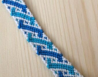 Blue & White Friendship Bracelet