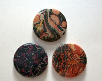 Marble Patterned Pin Button Badges
