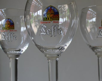 Vintage Leffe Belgium Beer Goblets, Vintage Beer Goblets, Vintage Beer Glasses, Belgium Beer, Gift For Him, Beer