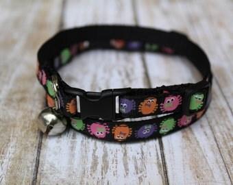 Glow in the Dark Cat Collars - Halloween Cat Collar - XS Halloween Dog Collar - Kitten collar - XS Dog Harness - Spider Collar