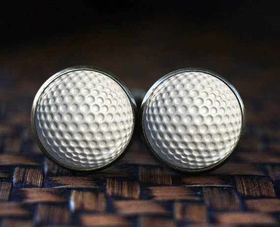 Golf ball cufflinks golf cuff links custom sports cufflinks for Golf buflings