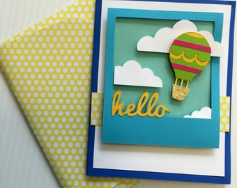 Hello Greeting Card 3d