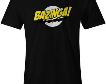 Bazinga Mens T-Shirt The Big Bang Theory Sheldon Cooper Funny Top Tee Birthday Gift Present